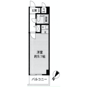 1R {building type} in Higashinakano - Nakano-ku Floorplan