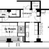 在港区购买2LDK 公寓大厦的 楼层布局