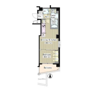 1LDK Mansion in Okusawa - Setagaya-ku Floorplan