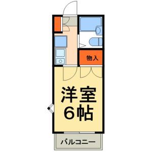 1K Apartment in Sakasaifujinodai - Kashiwa-shi Floorplan