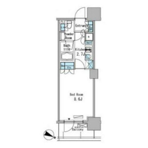 1K Mansion in Higashijujo - Kita-ku Floorplan