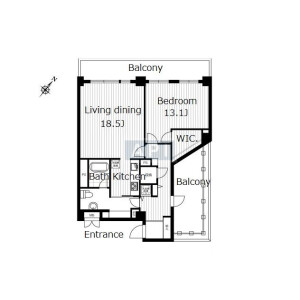 1LDK Apartment in Higashi - Shibuya-ku Floorplan