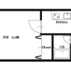 1K Apartment to Rent in Osaka-shi Fukushima-ku Floorplan