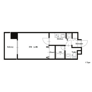 1K Mansion in Fukushima - Osaka-shi Fukushima-ku Floorplan