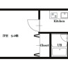 1K Apartment to Rent in Osaka-shi Fukushima-ku Floorplan