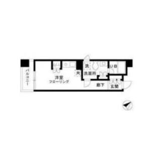 1R Mansion in Tsukiji - Chuo-ku Floorplan
