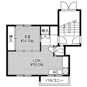 1LDK Mansion in Fukuzumi 2-jo - Sapporo-shi Toyohira-ku Floorplan