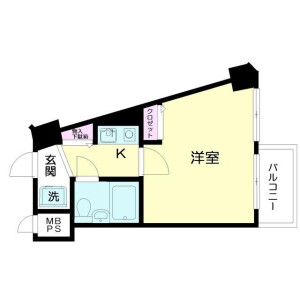 1K Mansion in Tateishi - Katsushika-ku Floorplan