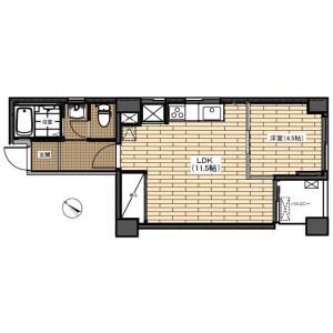 1LDK Mansion in Koishikawa - Bunkyo-ku Floorplan