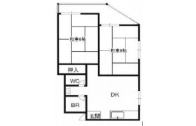 2DK Apartment in Kuwazu - Osaka-shi Higashisumiyoshi-ku