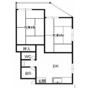 2DK Mansion in Kuwazu - Osaka-shi Higashisumiyoshi-ku Floorplan