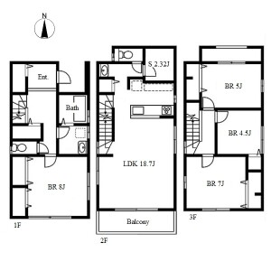 4SLDK House in Yadaminami - Nagoya-shi Higashi-ku Floorplan