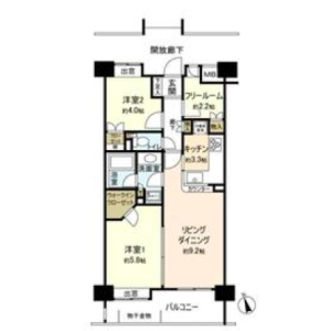 2LDK Mansion in Shibuya - Shibuya-ku Floorplan
