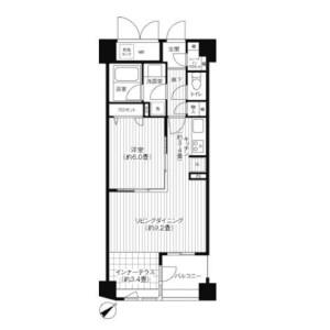 1LDK Apartment in Yochomachi - Shinjuku-ku Floorplan