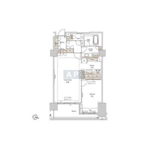 港区南青山-1LDK公寓 楼层布局