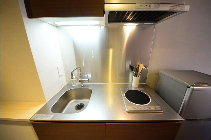1R Serviced Apartment to Rent in Minato-ku Kitchen