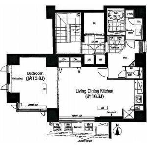 1LDK Mansion in Sotokanda - Chiyoda-ku Floorplan