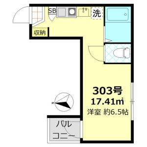 1R Apartment in Kamatahoncho - Ota-ku Floorplan