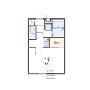 1K Apartment in Kasama - Yokohama-shi Sakae-ku Floorplan