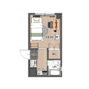 1K Mansion in Shimonumabe - Kawasaki-shi Nakahara-ku Floorplan