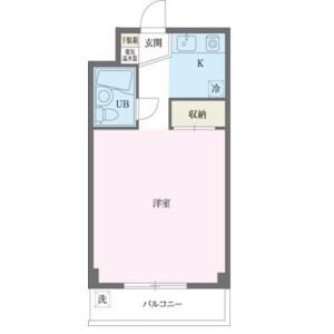 1K Mansion in Nakamachi - Machida-shi Floorplan