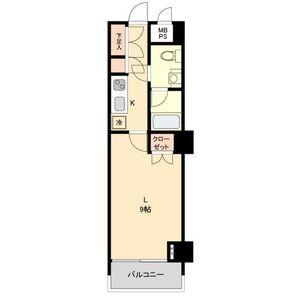 名古屋市中村区名駅南-1K公寓大厦 楼层布局