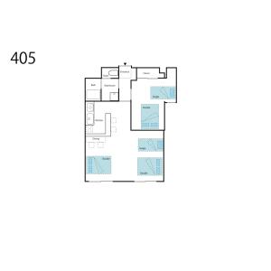 大阪市浪速區桜川-1LDK公寓大廈 房間格局