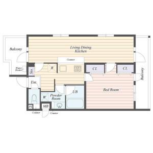 1LDK Mansion in Ohara - Setagaya-ku Floorplan