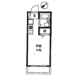 1K Apartment in Sagamidai - Sagamihara-shi Minami-ku Floorplan