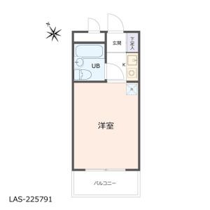 1R {building type} in Oguchinakamachi - Yokohama-shi Kanagawa-ku Floorplan