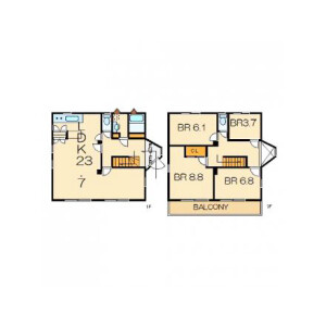 4LDK House in Kubiri - Yokosuka-shi Floorplan