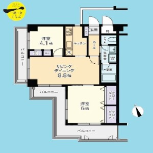 2DK {building type} in Miharadai - Nerima-ku Floorplan