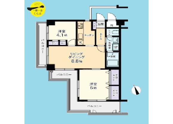 2DK Apartment to Buy in Nerima-ku Floorplan
