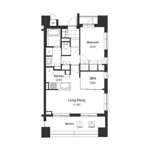 1SLDK Mansion in Mita - Minato-ku Floorplan