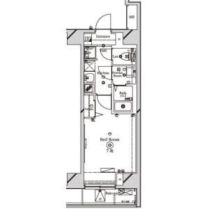 1K Mansion in Nishiaraihoncho - Adachi-ku Floorplan