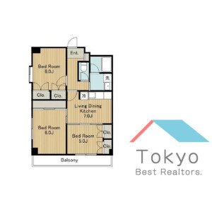 3LDK Mansion in Koenjikita - Suginami-ku Floorplan