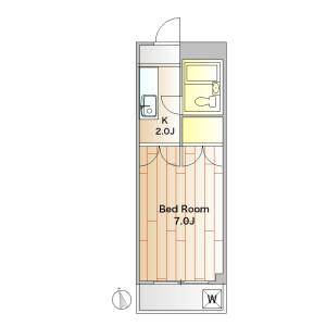 1K Mansion in Fukasawa - Setagaya-ku Floorplan