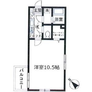 1K Mansion in Maruyama - Fujimino-shi Floorplan