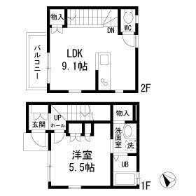 目黒區目黒本町-1LDK公寓 房間格局