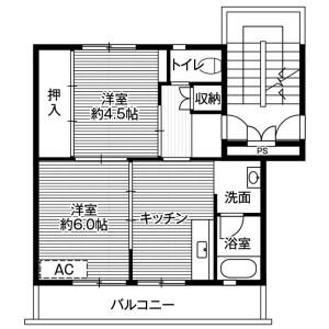 瑞穂市森-2DK公寓大厦 楼层布局