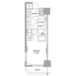世田谷區太子堂-1K公寓大廈 房間格局
