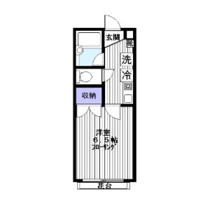 1K Mansion in Fujimoto - Kokubunji-shi Floorplan