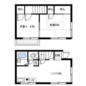 2LDK Apartment in Kishiya - Yokohama-shi Tsurumi-ku Floorplan