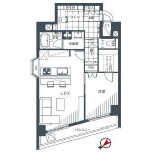 1LDK {building type} in Shinjuku - Shinjuku-ku Floorplan