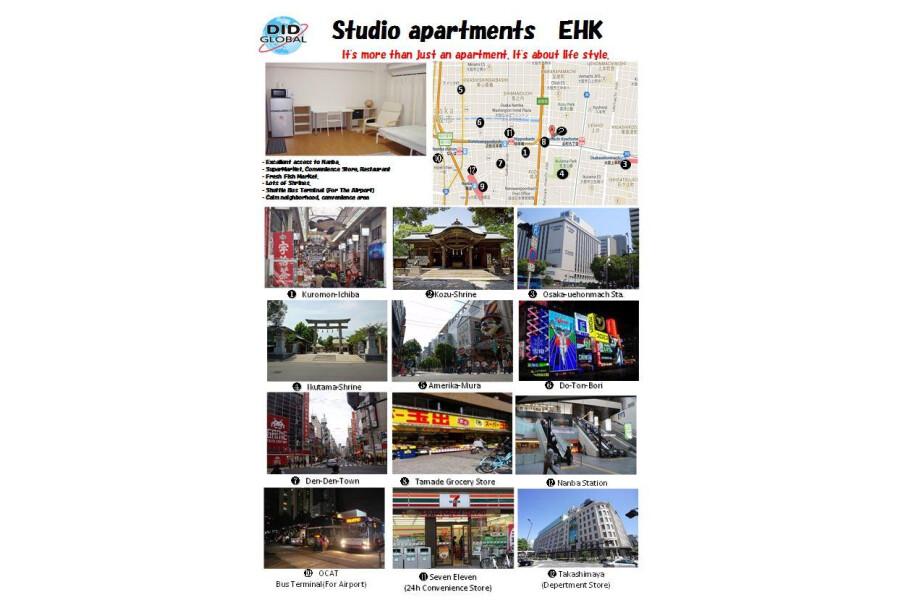 1R Apartment to Rent in Osaka-shi Chuo-ku Map