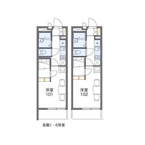 1K Mansion in Toribami - Nagoya-shi Moriyama-ku Floorplan