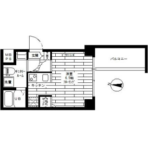 1K Mansion in Nishikamata - Ota-ku Floorplan