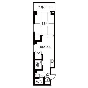 1DK Mansion in Yakunincho - Kyoto-shi Kamigyo-ku Floorplan
