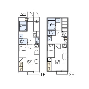 1K Apartment in Nagaoka - Chikushino-shi Floorplan