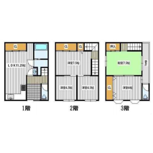 5LDK House in Nagaranishi - Osaka-shi Kita-ku Floorplan